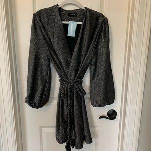 Black/silver Wrap Dress